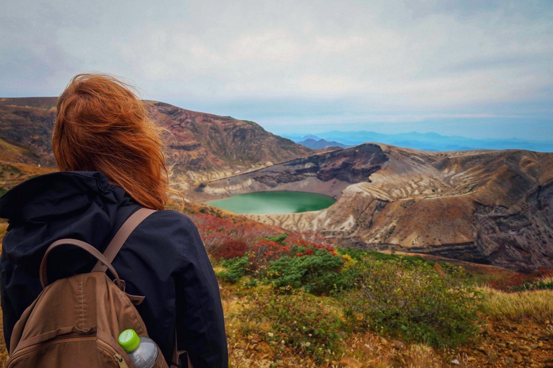 Okama-Krater und Kaminoyama Onsen – Radtour durch Japan Teil 19